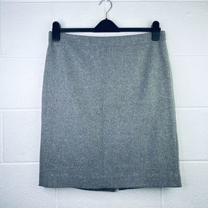 J Crew 12 The Pencil Skirt Wool Straight Suiting